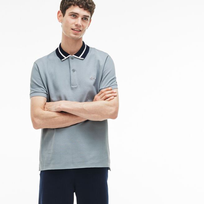 Polo slim fit Lacoste in piqué pesante di cotone con bordino