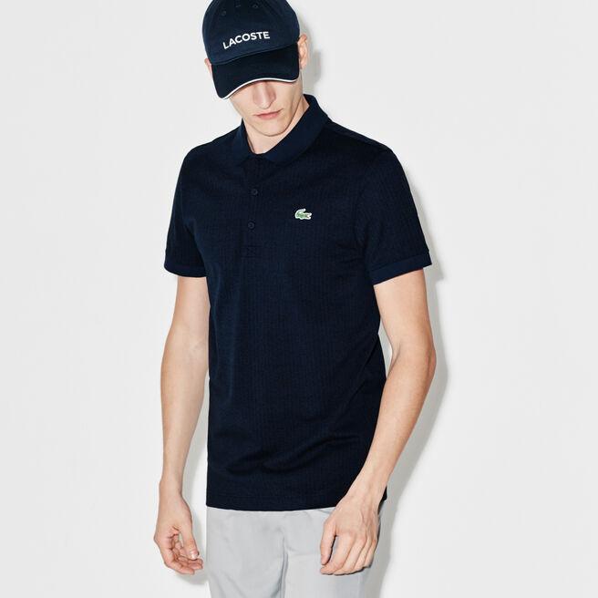 Polo Golf Lacoste SPORT in maglia ultra leggera stampata