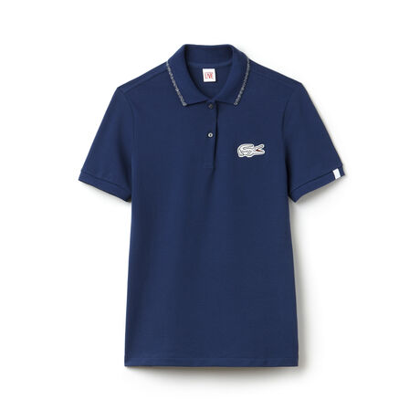 Polo slim fit Lacoste LIVE con bordino e coccodrillo in lurex