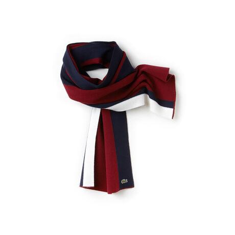 Sciarpa Made in France in lana stretch color block