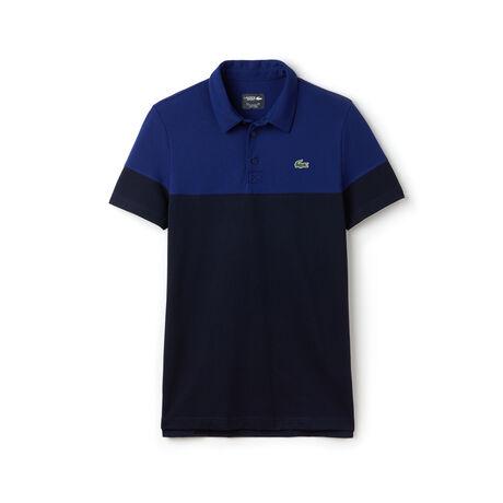 Polo Golf Lacoste SPORT in piqué tecnico color block