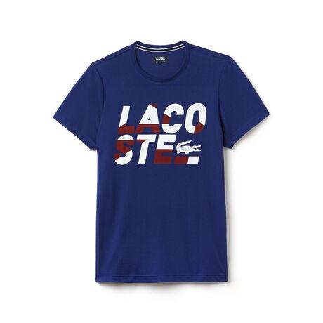 T-shirt Tennis Lacoste SPORT in jersey tecnico con scritta