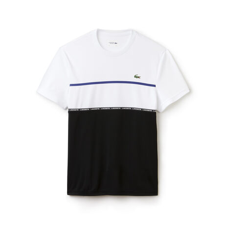 T-shirt Tennis Lacoste SPORT in piqué tecnico color block