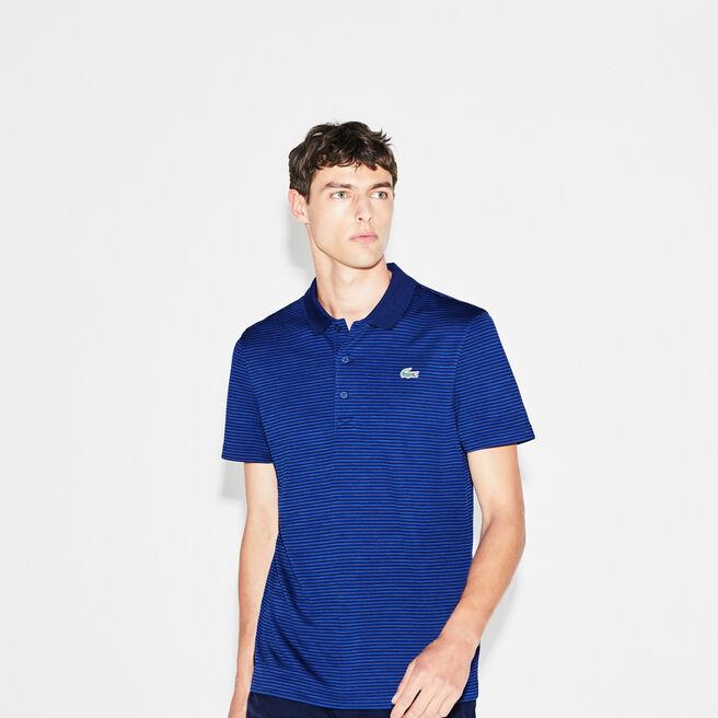 Polo Golf Lacoste SPORT in jersey tecnico a righe