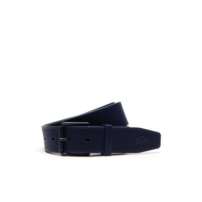 Cintura in silicone dotata di fibbia ad ardiglione con rullo e incisione Lacoste