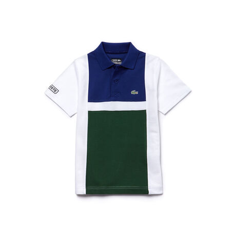 Polo Bambino Tennis Lacoste SPORT in cotone ultra leggero color block