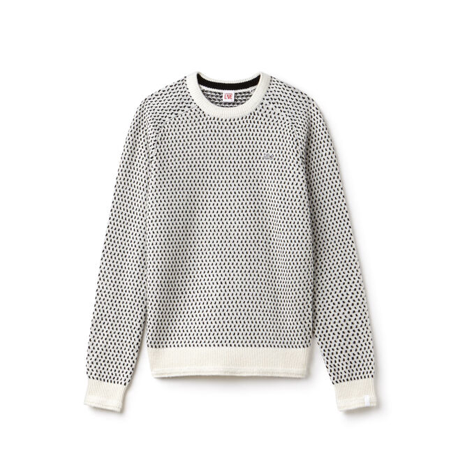 Camisola decote redondo Lacoste LIVE em mini jacquard de mistura de lã