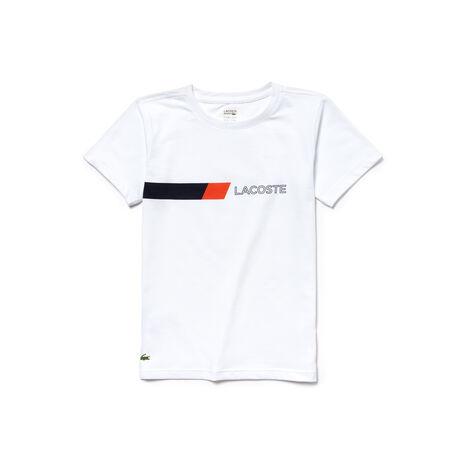 T-shirt Menino Tennis Lacoste SPORT em jersey com detalhe color block