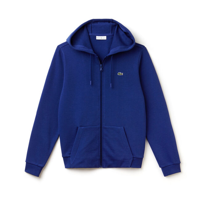 Sweatshirt com fecho de correr e capuz Tennis Lacoste SPORT em moletão