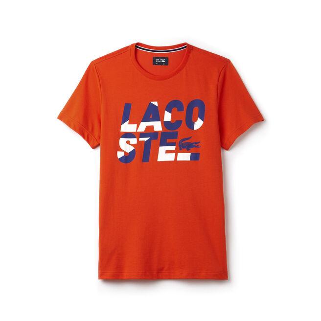 T-shirt Tennis Lacoste SPORT em jersey técnico com inscrição