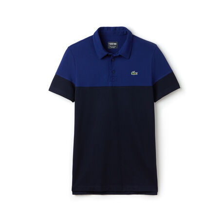 Polo Golf Lacoste SPORT em piqué técnico color block