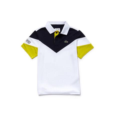 Polo Menino Tennis Lacoste SPORT em piqué técnico color block