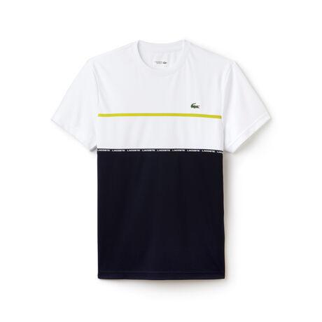 T-shirt Tennis Lacoste SPORT em piqué técnico color block