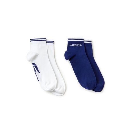 Lote de 2 pares de meias Tennis Lacoste SPORT em jersey jacquard