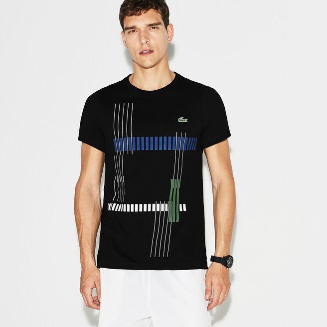 T-shirt Tennis Lacoste SPORT em jersey técnico com marcação às riscas