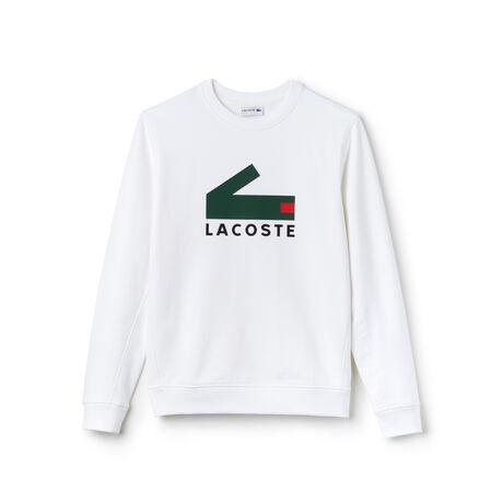 Sweatshirt em moletão de algodão com impressão crocodilo
