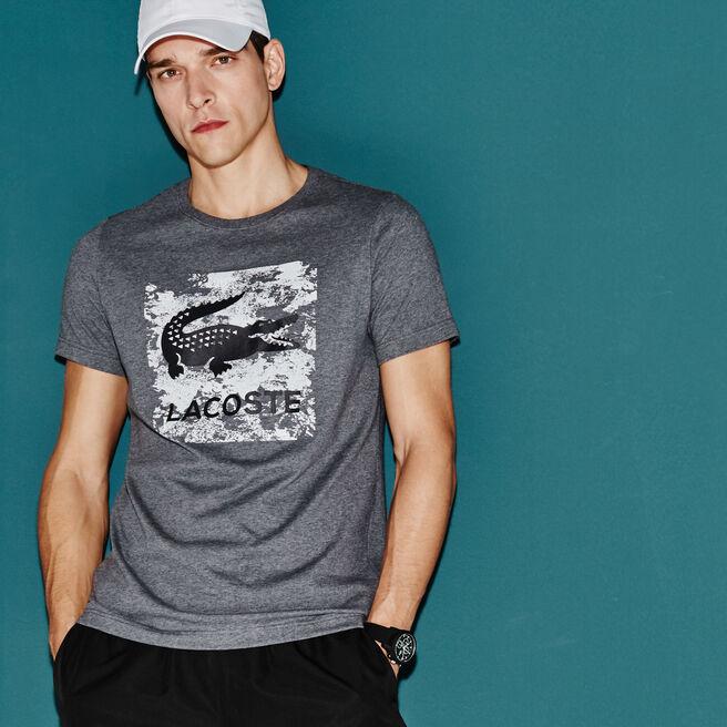 T-shirt Tennis Lacoste SPORT em jersey técnico com impressão