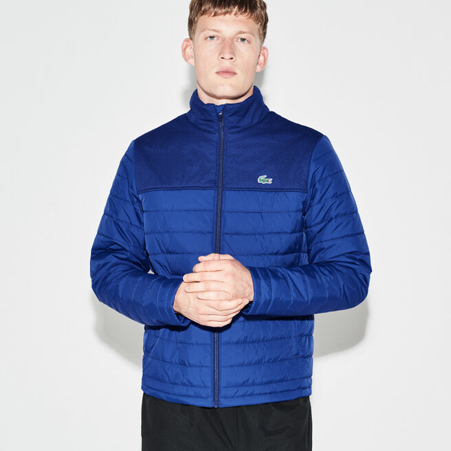 Men's Lacoste SPORT Tennis Mesh Panel Zippered Quilted Jacket