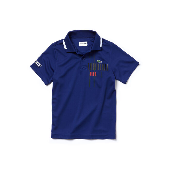 Boys' Lacoste SPORT Tennis Brand Design Technical Piqué Polo
