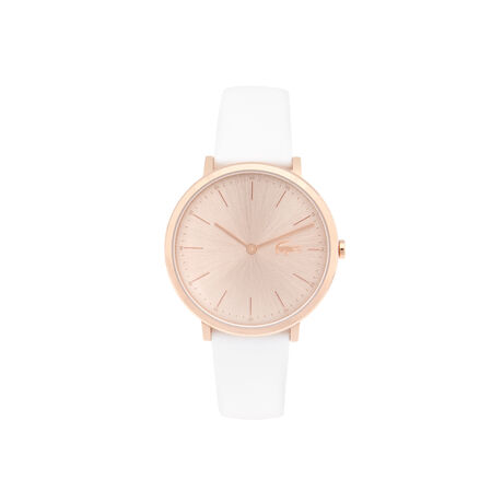 Lacoste Moon Watch Lady Extra-slim rose gold - white strap